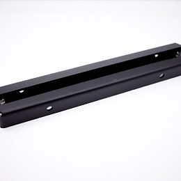 Image of a Jeep Wrangler Front License Plate Fold Bracket