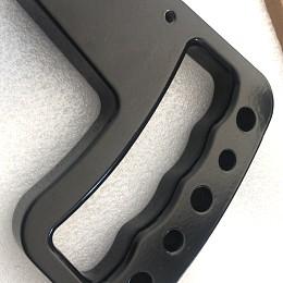Image of a Jeep Wrangler Jeep JK Wrangler 07~17 Pair Black aluminum Front Grab Handle Grip Accessory
