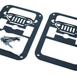 Image of a Jeep Wrangler Jeep Style Flat Tail Light Cover Light Guard