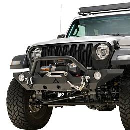 Image of a Jeep Wrangler Jeep Wrangler 2019 JL Premium Front Bumper (Matte-Black, incl. Fog Lights)