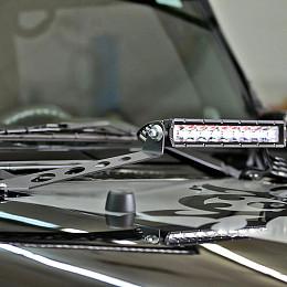 "Image of a Jeep Wrangler Hood Bonnet 20"" LED Bar Mounting Kit"