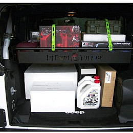 Image of a Jeep Wrangler 2 Door TF Style Rear cargo boot storage basket