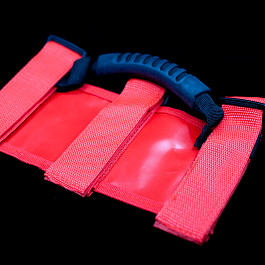 Image of a Jeep Wrangler 2x RED roll bar post soft Grab Handle grip Accessory