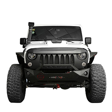 Image of a Jeep Wrangler Angry Grilles ABS Demon Grid Style Front Grill Grille matte black