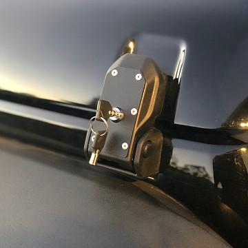 Image of a Jeep Wrangler NEW JEEP JL PARTS Jeep Wrangler JL Style Bonnet Latch for Jeep Wrangler JK (Lockable)