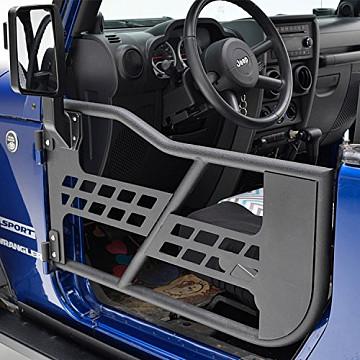Image of a Jeep Wrangler  2 door Tubular Doors with Mirror