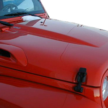 Image of a Jeep Wrangler Bonnets TMD Style FRP Bonnet Front Hood