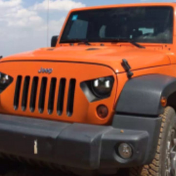 Image of a Jeep Wrangler Angry Grilles Transformer Style Angry Grille Matte Black