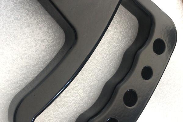 Picture of a Jeep JK Wrangler 07~17 Pair Black aluminum Front Grab Handle Grip Accessory