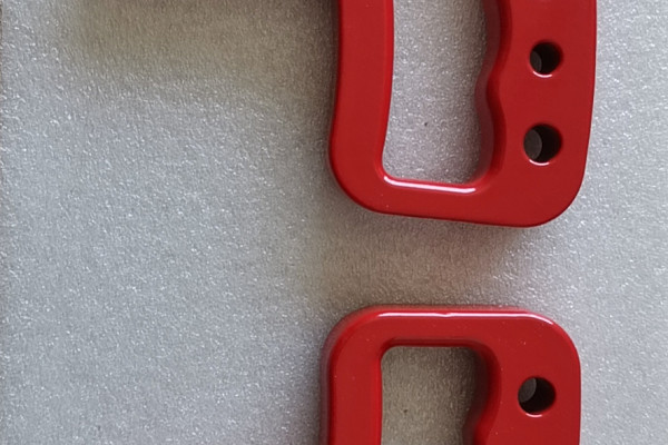 Picture of a Jeep JK Wrangler 07~17 Pair Red aluminum Front Grab Handle Grip Accessory