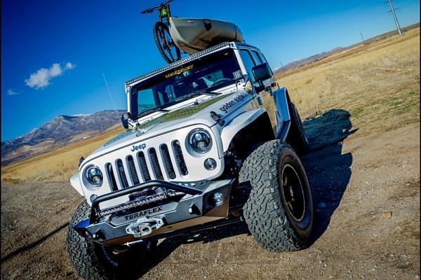 Picture of a Jeep JK Wrangler 07~17 TeraFlex Style Black Steel Front Bar 0338