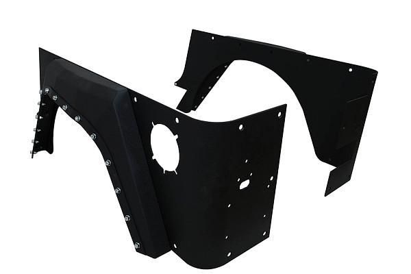 Picture of a Evolution Style Steel Rear Fender Flares Guard
