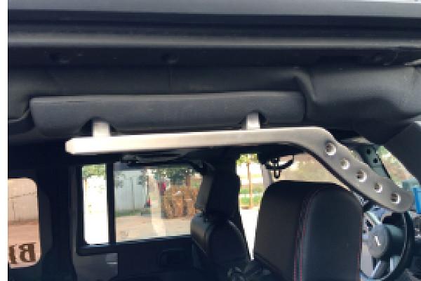 Picture of a  Pair Aluminum Rear Grab Handle A-alloy Black Color