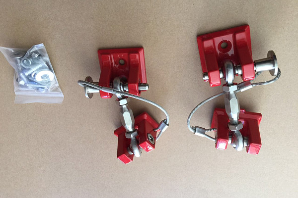 Picture of a Red Color Retro Style Bonnet lock Catch Kit