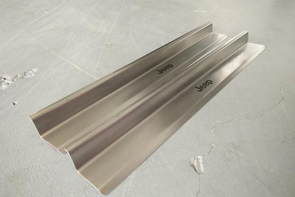 Picture of a 2 door type Stainless Steel door sill plate door add on