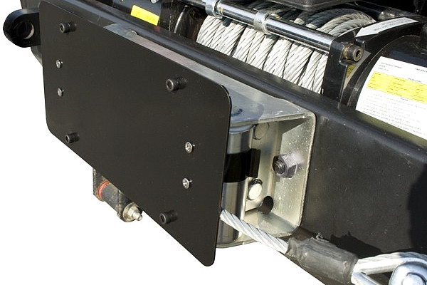 Picture of a Winch Roller Fairlead License Plate Holder Bracket Mount